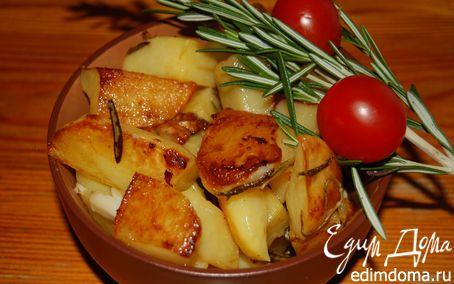 Рецепт Картофель, запеченный с чесноком и розмарином