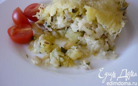 Рецепт Брандат из тилапии с луком-пореем