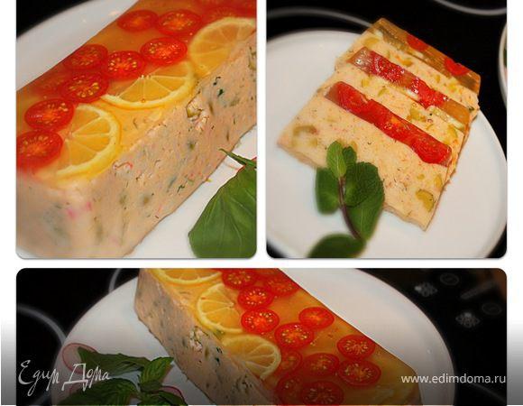 Закуска из лосося с помидорами