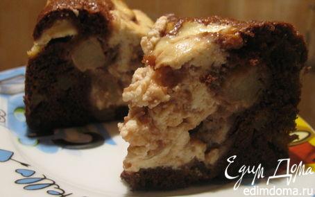 Рецепт Пирог с яблоками и творожной начинкой