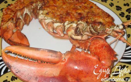 Рецепт Омар, фаршированный мясом креветок с томатным соусом