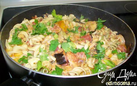 Рецепт Паста с креветками и овощами