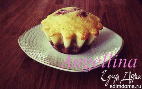 Рецепт маффины с малиной под соусом из маскарпоне
