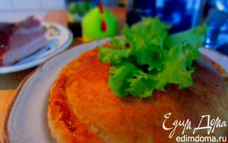 Рецепт – пирог с копченым салом