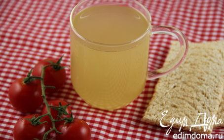 Рецепт Рыбный бульон с белым вином, тимьяном и анисом