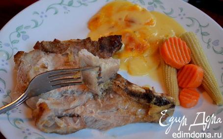 Рецепт Свиные отбивные с апельсиновой и имбирной глазурью