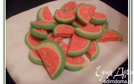 Рецепт Печенье «Арбузные дольки»
