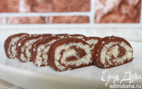 Рецепт Шоколадно-кокосовый рулет