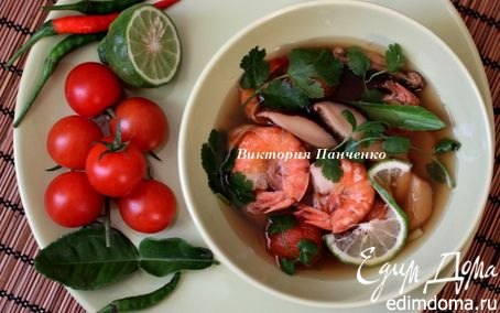 """Рецепт Тайский суп """"Том Ям"""""""