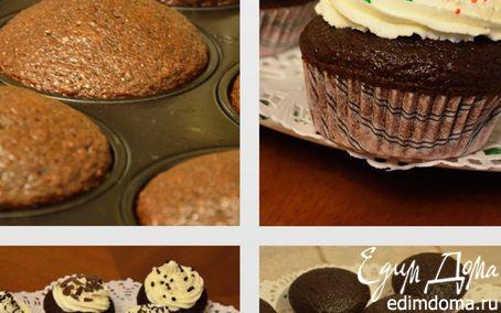 Рецепт Шоколадные капкейки с бананом