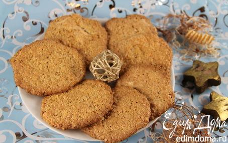 Рецепт Овсяное печенье на белках с кокосом и ванилью
