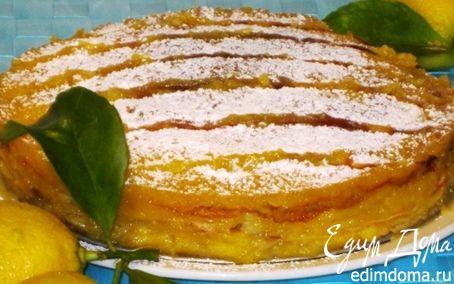 Рецепт Блинный торт с лимонным курдом