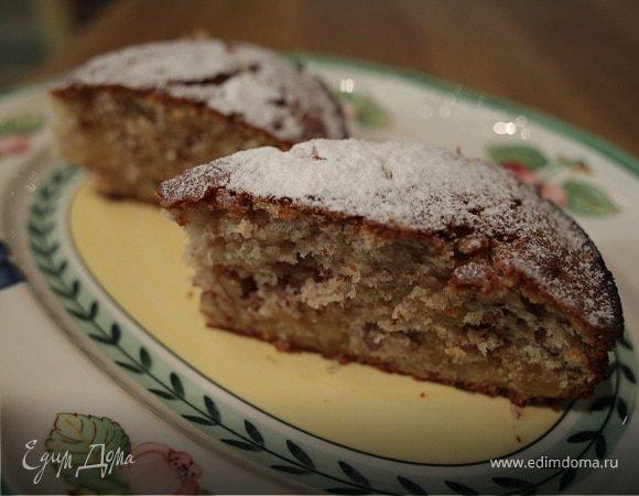 Пирог с цукатами и орехами пекан