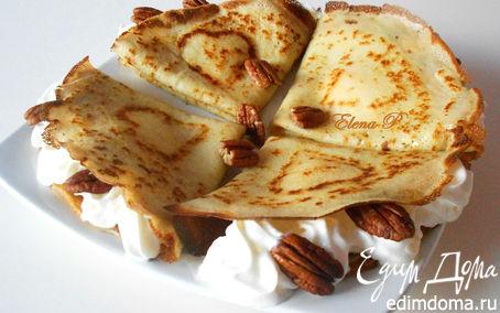 Рецепт Блинчики с орехом пекан и кленовым сиропом