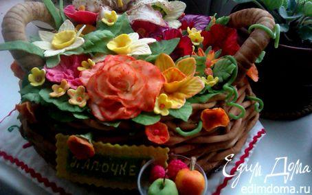 Рецепт Торт бисквитный с ягодным муссом и двумя волшебными кремами. На Папин День рождения