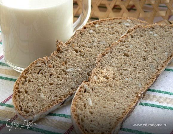 Хлеб ржаной на закваске с семечками