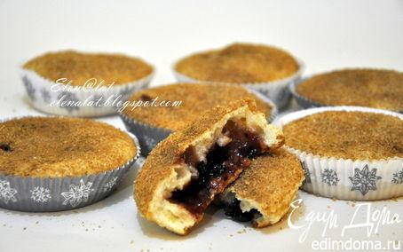 Рецепт Маффины с корицей, коричневым сахаром и вареньем