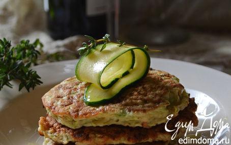 Рецепт Кабачковые оладьи с зеленью и чесноком