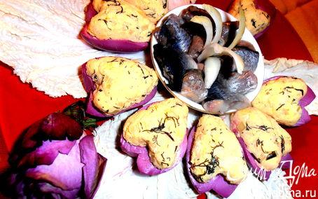 Рецепт Сердечная закуска из сельди