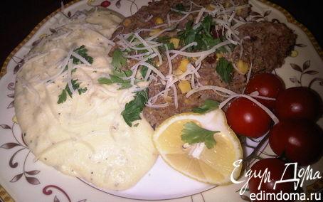 Рецепт Митлоф по-мексикански и полента с сыром Горгонзола