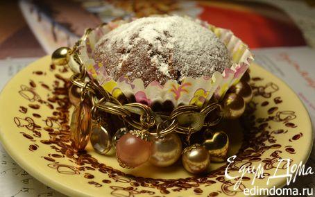 Рецепт Шоколадные кексы с начинкой из белого шоколада