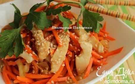 Рецепт Острый салат с кальмарами