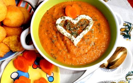 Рецепт Солнечный супчик из морковки
