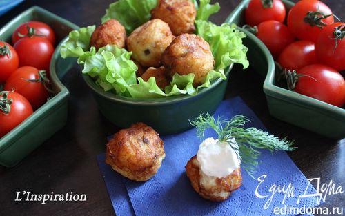 Рецепт Картофельные крокеты с сельдью