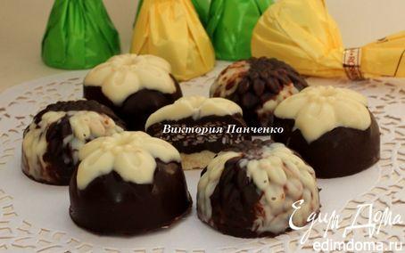 """Рецепт Шоколадные конфеты с сезамом """"Мраморные"""" и """"А-ля Монблан"""""""