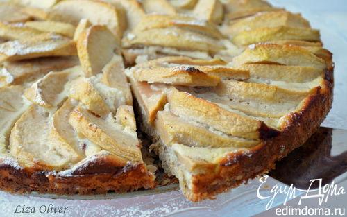 Рецепт Диетический яблочный пирог с овсянкой и йогуртом