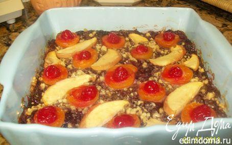 Рецепт Хлебный пирог с клюквенно-яблочным пюре и орехами