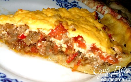 Рецепт Открытый мясной пирог