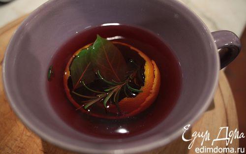 Рецепт Чай с розмарином, апельсином и медом