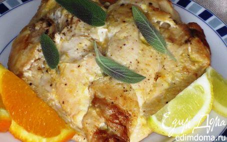 Рецепт Куриная грудка в луково-апельсиновом маринаде