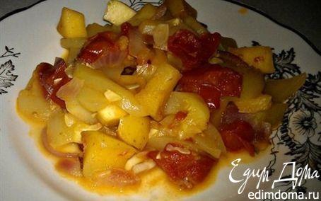 Рецепт Гарнир из кабачков с яблоками
