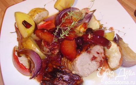 Рецепт Свиное филе под соусом красного вина
