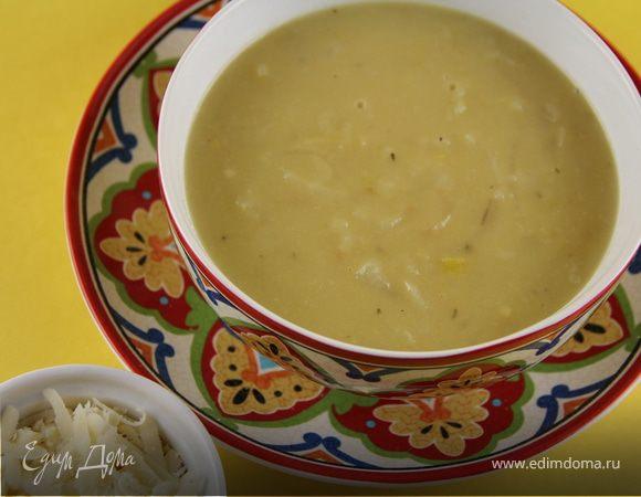 Луковый суп с яблоком и сидром