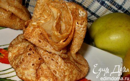 Рецепт Заварные блины на молоке с начинкой из яблок