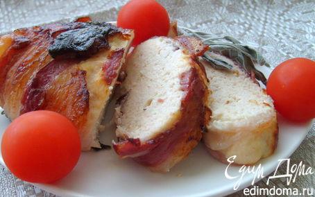 Рецепт Запеченный куриный рулет с рикоттой