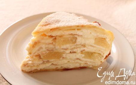 Рецепт Ананасовый блинный пирог
