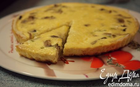 """Рецепт Киш """"Лорен"""" с грибами и сыром"""