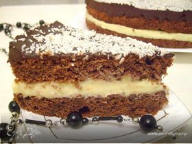 """Торт """"Шоколадно-кокосовый шифон"""""""