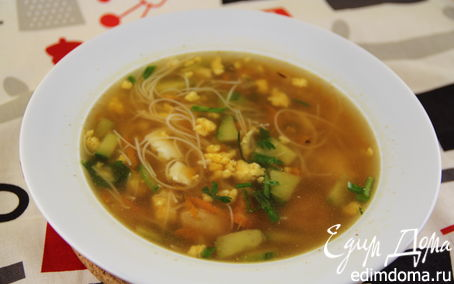 Рецепт Куриный суп с яйцом и зеленью
