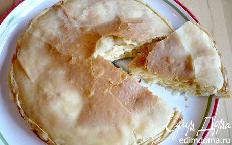 Рецепт Вкусный до неприличия пирог с семгой и капустой «Мечта пастуха»