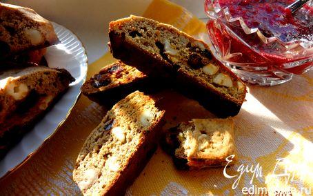 Рецепт Овсяные бискотти с орехами, бананами и финиками
