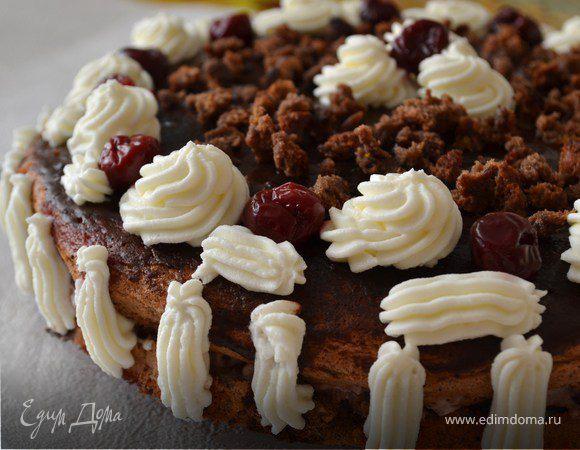 торт пьяная вишня рецепт пошаговый рецепт с фото