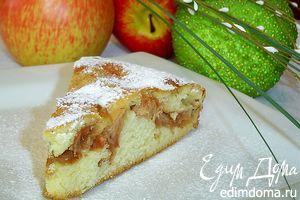 Рецепт – Быстрый пирог с яблоками на кефире