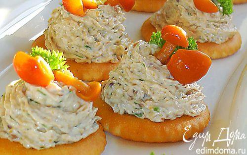 Рецепт Грибная закуска на крекерах