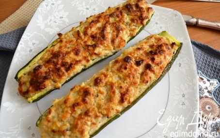 Рецепт Фаршированные кабачки (цукини)