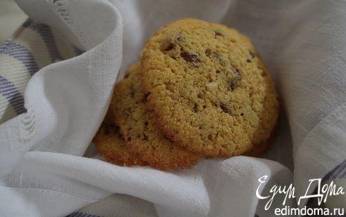 Рецепт Бисквитное печенье из кукурузной муки с изюмом